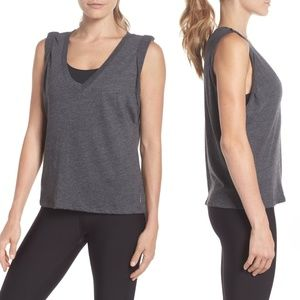 Free People Sleeveless V-neck Workout Tank Top